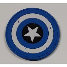 captain america shield blue-red